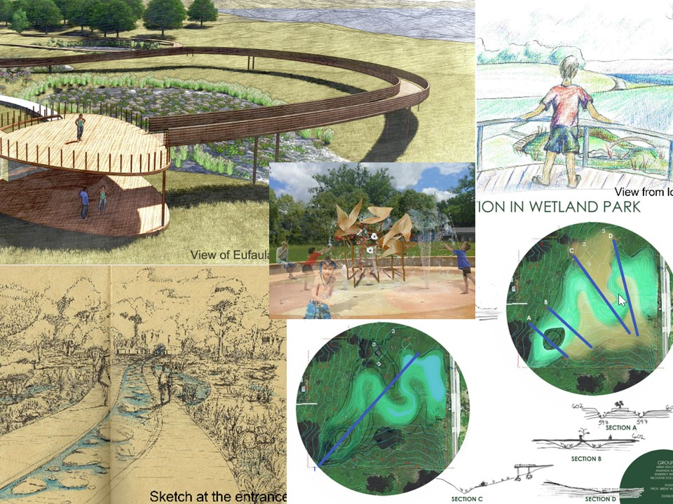 OU landscape architecture students\' ideas for Eufaula ...